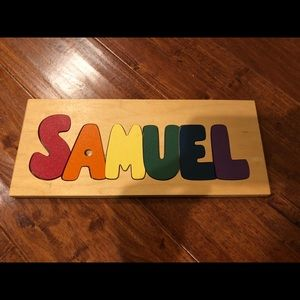 Wooden name puzzle Samuel